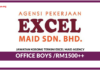 Jawatan Kosong Terkini Office Boys Di Excel Maid Agency