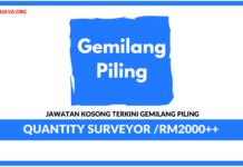 Jawatan Kosong Terkini Quantity Surveyor Di Gemilang Piling