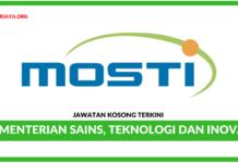 Jawatan Kosong Terkini Kementerian Sains, Teknologi dan Inovasi