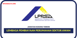 Jawatan Kosong Terkini Lembaga Pembiayaan Perumahan Sektor Awam (LPPSA)