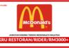 Jawatan Kosong Terkini Kru Restoran/Rider Di McDonald's
