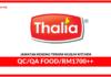 Jawatan Kosong QC/QA Food Di Terkini Muslim Kitchen