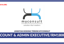 Jawatan Kosong Terkini Account & Admin Executive Di Myconsult