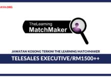 Jawatan Kosong Terkini Telesales Executive Di The Learning Matchmaker