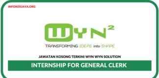 Jawatan Kosong Terkini Internship for General Clerk Di Wyn Wyn Solution