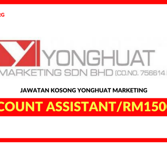 Jawatan Kosong Terkini Account Assistant Di YongHuat Marketing