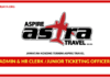 Jawatan Kosong Terkini Admin & HR Clerk / Junior Ticketing Officer Di Aspire Travel