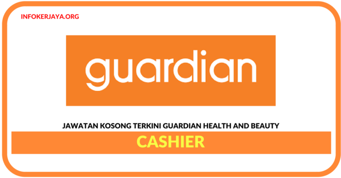Jawatan Kosong Terkini Cashier Di Guardian Health And Beauty