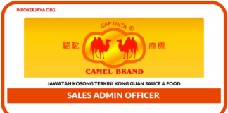 Jawatan Kosong Terkini Sales Admin Officer Di Kong Guan Sauce & Food