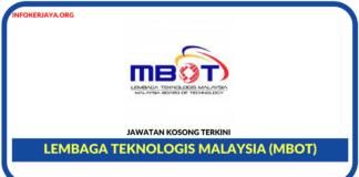 Jawatan Kosong Terkini Lembaga Teknologis Malaysia (MBOT)