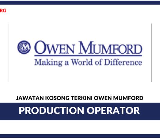 Jawatan Kosong Terkini Production Operator Di Owen Mumford