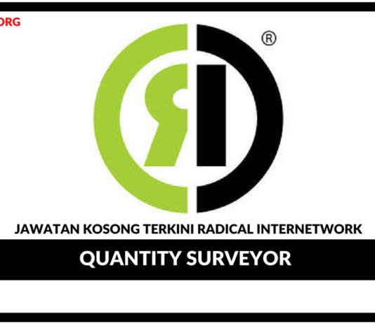 Jawatan Kosong Terkini Quantity Surveyor Di Radical Internetwork