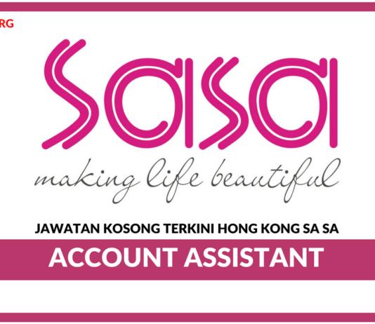 Jawatan Kosong Terkini Account Assistant Di Hong Kong Sa Sa