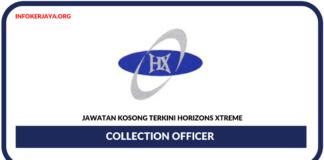 Jawatan Kosong Terkini Collection Officer Di Horizons Xtreme