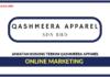 Jawatan Kosong Terkini Online Marketing Di Qashmeera Apparel