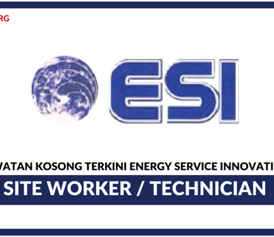 Jawatan Kosong Terkini Site Worker / Technician Di Energy Service Innovations