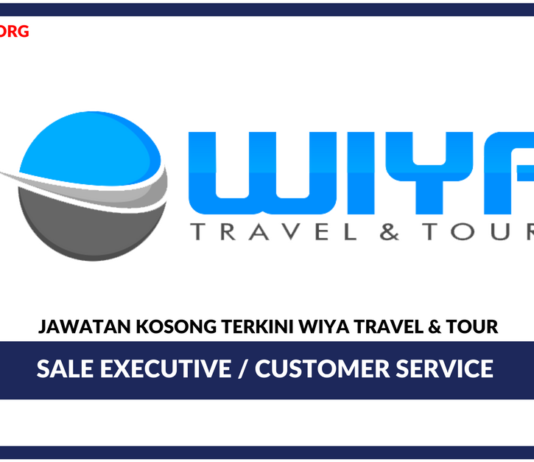 Jawatan Kosong Terkini Sale Executive / Customer Service Di Wiya Travel & Tour