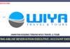 Jawatan Kosong Terkini Ticketing Airline Reservation Executive & Account Executive Di Wiya Travel & Tour